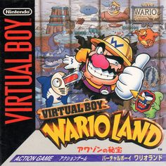 Nintendo trademarks Japanese version of Virtual Boy Wario Land Kenkou Ouen Recipe 1000 Classic Video Games, Retro Video Games, Video Game Art, Retro Games, Game Boy, Arcade, Poop Jokes, Virtual Boy, Super Mario Art