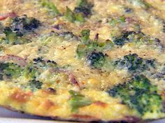 Broccoli and Cheddar Fritata - another way to make use of Broccoli Healthy & Yummy!