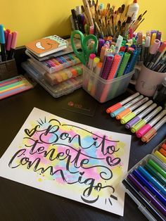 Please visit our website for Crafts For Kids, Arts And Crafts, Calligraphy Letters, Positive Words, Disney Frozen, Ideas Para, Holi, Hand Lettering, Mandala