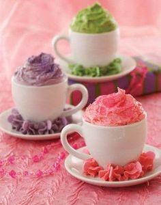 Tea Cup Cupcakes from Pink Princess Tea Parties Book - bjl