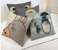Hayao Miyazaki Style 45*45cm Home Decorative Pillow Totoro Printed
