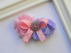 Shabby Chic Hair Clip by Avabowtiquee on Etsy, $4.95