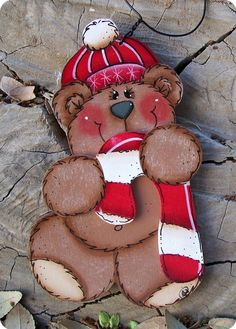 Sweet Bear Ornament by CountryCharmers on Etsy, $7.50