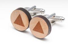 Isosceles Triangle Wood Cufflinks