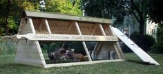 I'm obsessed with coops now. This site provides plans to make chicken tractors.