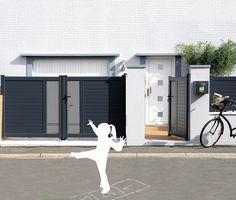 Erquy - Ensemble portillon et portail battant en Aluminium Contemporain Klosea