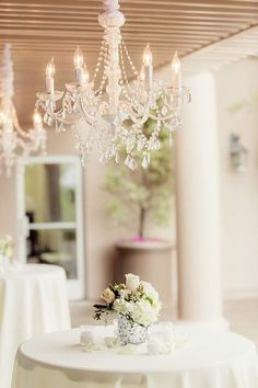 lovely chandelier rentals. #glameventstylist @Los Verdes Golf Club Weddings and Private Events