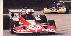 (15) Gabriele Serblin - Brabham BT40 Ford BDA - FINA - (38) Jochen Mass - Surtees TS15 Ford BDA/Hart - Team Surtees FINA - XV Gran Premio della Lotteria di Monza - 1973 European F2 Championship, Round 10