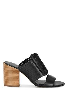 Camila Sandal - These thatched leather numbers fall halfway between sandal and mule, making them perfect for spring-through-fall wear. Plus that seventies-style stacked heel gives a boho-meets-uptown vibe to literally any and every outfit.
