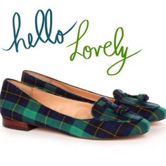 Seriously, I'm in LOVE!! #plaidobsessed #plaid #loafer #tassel
