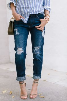 DIY: distressed jeans