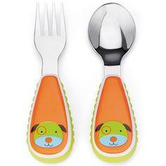 Set tenedor y cuchara de acero inoxidable Perro Skip Hop