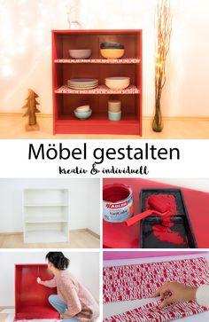 #DIY #Werbung Wie Du Deine Weißen Möbel Ganz Einfach Bunt Lackieren Kannst.  DIY