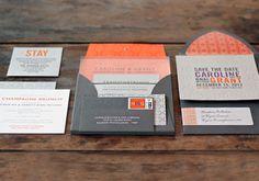 Two Paperdolls Custom Invitations: Letterpress & Lucite
