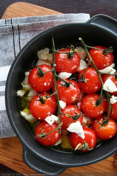 Roasted Tomatoes with Garlic-Infused Oil & Goat Cheese