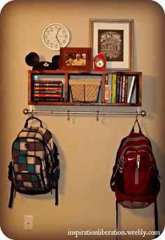 1000 images about girls room ideas on pinterest Ideas for hanging backpacks