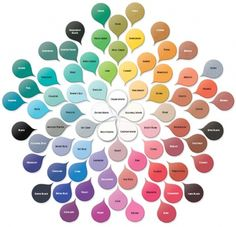 """A """"color wheel"""" in case you get stuck with bead ideas"""