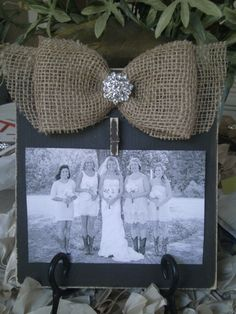 Bridesmaids Gift Idea - thefrenchfleashop on Etsy Vintage Picture Frames, Wedding Gifts For Bridesmaids, Rustic Wedding, Fairy Tales, Gift Ideas, Artwork, Shop, Pictures, Etsy