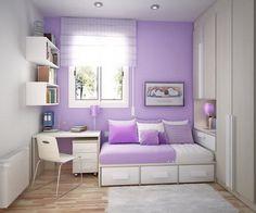 Habitación compartida en color lila