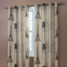 Paris Curtain Panel- as an entire wall hanging?