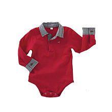 """Truly Scrumptious Boys' Playette Slub Bodysuit with Poplin Cuff and Collar - Heidi Klum - Babies """"R"""" Us"""