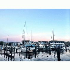 South Haven's serene Black River Harbor captured by Instagram friend, @ lindseyherman! #PureMichigan #sail #boats