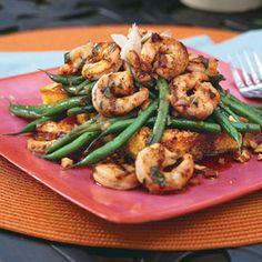 Grilled Shrimp-and-Green Bean Salad | MyRecipes.com