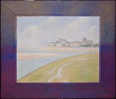 Seurat's unique style of painting (called pointillism, divisionism, or neo-impressionism) was based on scientific theories of how the optical nerve transmits juxtaposed colors to the brain. Seurat painted a border of complementary colors along the edge...