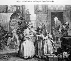 William Hogarth - the practice of acquiring unsuspecting innocents for brothels.
