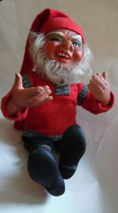 VINTAGE-ARNE-HASLE-NISSE-GOME-ELF-SANTA-LATEX-15-DOLL-NORWAY
