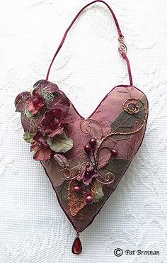 Soft sculpture heart by moonmommas on Etsy