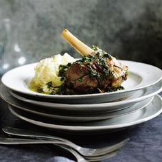 Braised lamb shanks with lemon, garlic and parsley recipe. A gastropub favourite, tender lamb shanks love being left to cook until succulent and intensely savoury. Even better if made in advance and chilled overnight – scrape off any surface fat before reheating until piping hot.