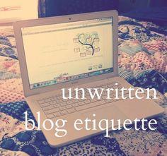 Seven Cherubs: unwritten blog etiquette