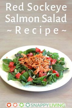 This easy salmon salad recipe is a filling one-dish dinner you can make without cooking. You'll only need about thirty minutes (maybe less) to make it, because there's no cooking at all involved. It's a simple, light delicious salad with red sockeye salmon and homemade thousand island (or the dressing of your choice, obviously).