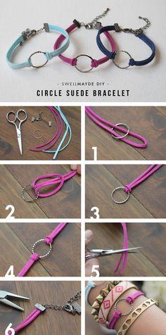 swellmayde: DIY | CIRCLE SUEDE BRACELETS WITH WWDMAGIC