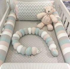Braided Crib Bumper. Perfect f