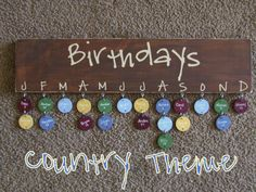 this would be really cute for keeping up with the kids birthdays at school or at home