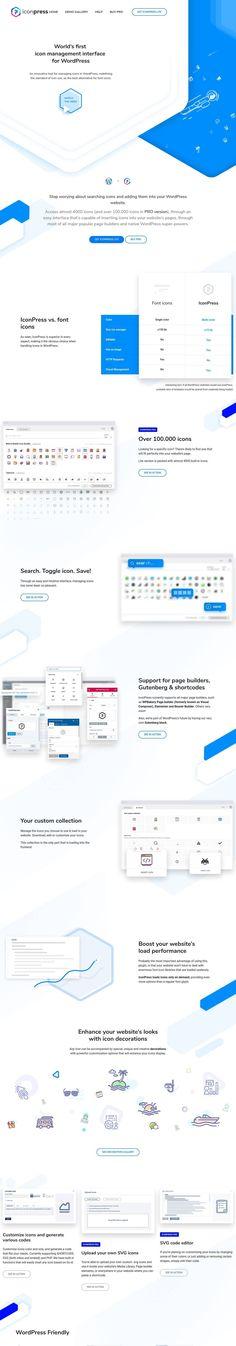 IconPress  icon management for WordPress (More web design inspiration at topdesigninspiration.com) #design #web #webdesign #sitedesign #responsive #ux #ui Design Web, Site Design, Web Design Inspiration, Website Template, Wordpress, Management, Templates, Web Design, Stencils