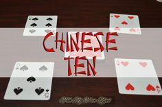 Family Game Night- Chinese Ten Family Game Night- How to play the Chinese Ten Card Game for 2 to 4 Family Card Games, Fun Card Games, Card Games For Kids, Games For Teens, Group Card Games, Dice Games, Activity Games, Math Games, Games To Play