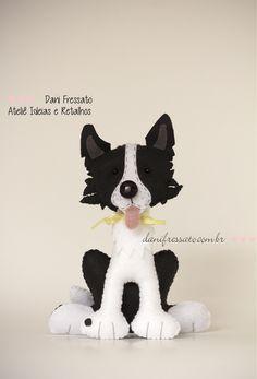 Border Colie - Feltro (Dani_Fressato) Tags: dog handmade artesanato craft felt cachorro feltro trabalhomanual ideias retalhos bordercolie danifressato
