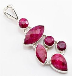 ROYAL RUBY GEMSTONE PENDANT SOLID 925 STERLING SILVER JEWELRY IP16202 #Pendant