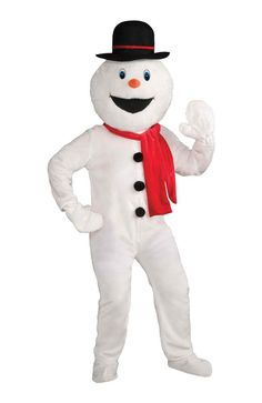 Creepy Scary Costume Snowman Mascot