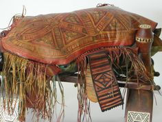 Leather cushion Tuareg nomadic women antique by ExclusiveFinds