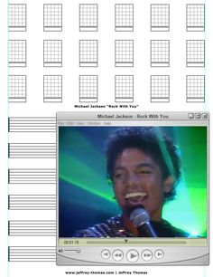 "On The Workbench: ""Rock With You"" by Michael Jackson. I am starting the guitar tab for this and will be adding it to my online guitar lessons archive. This is a super fun tune to play & sing!  Let me know if you would like a free skype guitar lesson on it?  www.jeffrey-thomas.com"