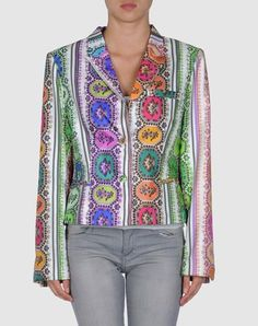 Twill silk blazer by Roberto Cavalli. This must feel amazing. $425 on clearance