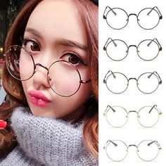 448c2d90305 Hot Retro Oversized Korean Round Glasses Frame Clear Lens Women Men  Goldmodkily Circle Glasses Mens