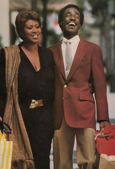 """Aretha Franklin and Glen Turman.The """"Queen of Soul"""" and Former Husband, TV Actor, Turman. My Black Is Beautiful, Black Love, Celebrity Couples, Celebrity Photos, Tennessee, Essence Magazine, Vintage Black Glamour, Ted, Black Celebrities"""