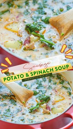 Easy Delicious Recipes, Easy Dinner Recipes, Yummy Food, Healthy Recipes, Tasty, Casserole Recipes, Soup Recipes, Cooking Recipes, Spinach Soup