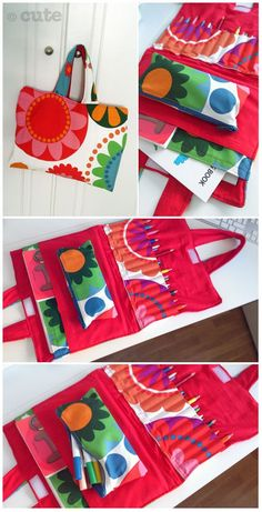 Maleta de tela para pinturas. Crayon and coloring book carrier