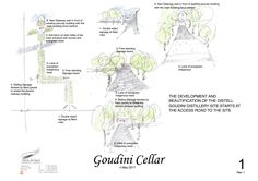 Sketch plan for a wine cellar in South Africa